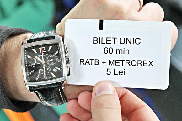 Bilet unic RATB - Metrorex 2017